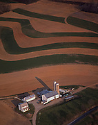 Aerial Farm and Farmland Contours, Lancaster Co., PA