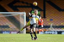 Stuart Sinclair of Bristol Rovers challenges Jerome Thomas of Port Vale to a header - Mandatory by-line: Robbie Stephenson/JMP - 18/02/2017 - FOOTBALL - Vale Park - Stoke-on-Trent, England - Port Vale v Bristol Rovers - Sky Bet League One