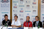 Eton, GREAT BRITAIN, Top table. left to right, Steve WILLIAMS, matt SMITH, Mike BALDWIN, Alan WOODS,  2006 World Rowing Championships, 17/08/2006.  Photo  Peter Spurrier, © Intersport Images,  Tel +44 [0] 7973 819 551,  email images@intersport-images.com , Rowing Courses, Dorney Lake, Eton. ENGLAND