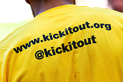 Kick It Out campaign branding - Mandatory by-line: Ryan Crockett/JMP - 21/09/2019 - FOOTBALL - Aesseal New York Stadium - Rotherham, England - Rotherham United v Shrewsbury Town - Sky Bet League One