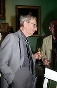 Eric Hobsbaunr. Celebration of Lord Weidenfeld's 60 Years in Publishing hosted by Orion. the Weldon Galleries. National Portrait Gallery. London. 29 June 2005. ONE TIME USE ONLY - DO NOT ARCHIVE  © Copyright Photograph by Dafydd Jones 66 Stockwell Park Rd. London SW9 0DA Tel 020 7733 0108 www.dafjones.com