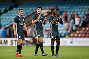 Harry Maguire of Leicester City applauds fans after the Pre-Season Friendly match between Scunthorpe United and Leicester City at Glanford Park, Scunthorpe, England on 16 July 2019.