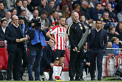 Bart Ramselaar of PSV during the Dutch Eredivisie match between PSV Eindhoven and Feyenoord Rotterdam at the Phillips stadium on September 17, 2017 in Eindhoven, The Netherlands