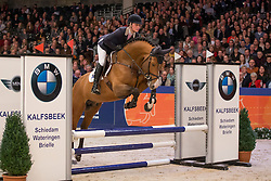 016, Hanley, Muller Caroline<br /> Goedgekeurde Springhengsten 2015<br /> KWPN Hengstenkeuring - 's Hertogenbosch 2016<br /> © Hippo Foto - Dirk Caremans<br /> 04/02/16