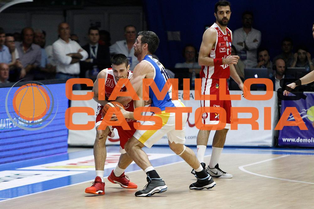 Cinciarini Diener<br />Betaland Capo D'Orlando Vs EA7 Emporio Armani Olimpia Milano<br />Playoff Gara 4<br />LegaBasket 2016/2017<br />Capo d&rsquo;Orlando 18/05/2017<br />Foto Ciamillo-Castoria