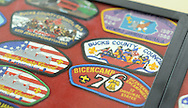 Past patches from Ockanickon were displayed during Ockanickon Scout Reservation's 75th anniversary celebration Saturday, June 18, 2016 in Pipersville, Pennsylvania.   (Photo by William Thomas Cain)