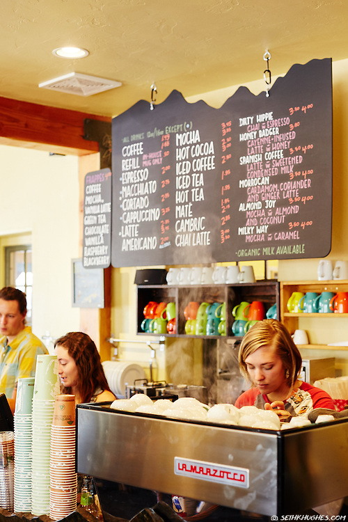 Buena Vista Roastery on Main Street in Buena Vista, Colorado.