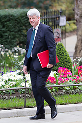 © Licensed to London News Pictures. 18/03/2014. London, UK. The Leader of the Commons, Andrew Lansley, arrives for a meeting of the British cabinet on Downing Street in London today (18/03/2014). Photo credit: Matt Cetti-Roberts/LNP