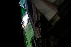 Finals in climbing the 30m high bell tower on August 3, 2019 in Kanal ob Soci, Slovenia. Photo by Peter Podobnik / Sportida
