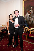 SHEILA MACKINTOSH; JAMES STEWART, Charity Dinner in aid of Caring for Courage The Royal Scots Dragoon Guards Afganistan Welfare Appeal. In the presence of the Duke of Kent. The Royal Hospital, Chaelsea. London. 20 October 2011. <br /> <br />  , -DO NOT ARCHIVE-© Copyright Photograph by Dafydd Jones. 248 Clapham Rd. London SW9 0PZ. Tel 0207 820 0771. www.dafjones.com.