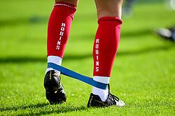 Robins Socks prior to kick off - Mandatory by-line: Ryan Hiscott/JMP - 29/09/2019 - FOOTBALL - SGS College Stoke Gifford Stadium - Bristol, England - Bristol City Women v Chelsea Women - FA Women's Super League