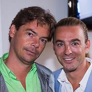 NLD/Amsterdam/20130621 - Boekpresentatie Happy Go Beauty van Tom Sebastian, met partner Bas