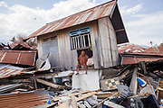 after a 7.5 earthquake magnitude hit off the coast of Donggala, Palu Sulawesi Central, Indonesia on Sept. 28th causing a tsunami.