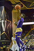 Alcorn State Braves guard Maurice Howard (11)shoots against Vanderbilt Commodores guard (10) during the first half of a NCAA college basketball game in Nashville, Tenn., Friday, Nov 16, 2018. (Jim Brown/Image of Sport)