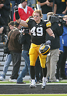 November 21, 2009: Iowa linebacker A.J. Edds (49) is introduced as part of senior day before the Iowa Hawkeyes 12-0 win over the Minnesota Golden Gophers at Kinnick Stadium in Iowa City, Iowa on November 21, 2009.