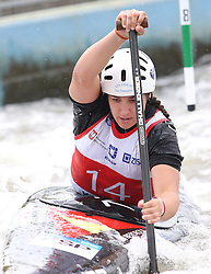 July 1, 2018 - Krakow, Poland - 2018 ICF Canoe Slalom World Cup 2 in Krakow. Day 2. On the picture: MIREN LAZKANO (Credit Image: © Damian Klamka via ZUMA Wire)