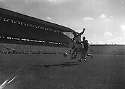 Player kicks ball towards goal<br />