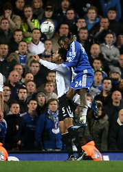 LONDON, ENGLAND - Tuesday, December 4, 2007: Chelsea's Shaun Wright-Phillips scores the winning goal against Everton during the League Cup Semi-Final 1st Leg match at Stamford Bridge. (Pic by Chris Ratcliffe/Propaganda)