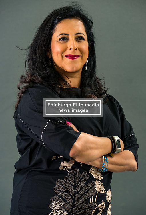 Pictured: Edinburgh International Book Festival, Edinburgh, Scotland, United Kingdom, 23 August 2019 . <br /> Anita Anand, a British-Indian radio and television presenter and journalist, talks about her book 'The Patient Assassin', which documents a shameful day in Britain's history whenBritish soldiers opened fire on thousands of unarmed men, women and children in Amritsar.<br /> Sally Anderson | EdinburghElitemedia.co.uk