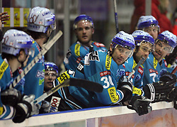 Team of Liwest Linz at ice hockey match HK Acroni Jesenice vs Liwest Linz in second round of quarter final of Ebel League (Erste Bank Eishockey Liga),  on February 17, 2008 in Podmezaklja, Jesenice, Slovenia. Win of Acroni Jesenice 4:2. (Photo by Vid Ponikvar / Sportal Images)