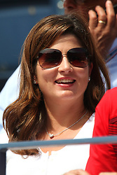 01.09.2011, Billie Jean King Tennis Center, New York, USA, US OPEN, im Bild MIRKA FEDERER SUI, WIFE OF ROGER FEDERER, WATCHING A SECOND ROUND MATCH BETWEEN  ROGER FEDERER AND  DUDI SELA ISR, EXPA Pictures © 2011, PhotoCredit: EXPA/ Newspix/ MAREK JANIKOWSKI +++++ ATTENTION - FOR AUSTRIA/ AUT, SLOVENIA/ SLO, SERBIA/ SRB an CROATIA/ CRO, SWISS/ SUI and SWEDEN/ SWE CLIENT ONLY +++++
