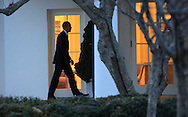 President Barack Obama returns to the White House on February 26, 2016<br />  Photo by Dennis  Brack