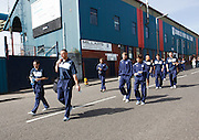 Dundee players walk from Dens Park to Tannadice - Dundee United v Dundee, Clydesdale Bank Scottish Premier League at Tannadice.. - © David Young - 5 Foundry Place - Monifieth - DD5 4BB - Telephone 07765 252616 - email: davidyoungphoto@gmail.com - web: www.davidyoungphoto.co.uk