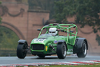 #40 Fraser Greenshields Caterham R300 2000 during the CSCC Gold Arts Magnificent Sevens at Oulton Park, Little Budworth, Cheshire, United Kingdom. October 15 2016. World Copyright Peter Taylor/PSP. <br /> Copy of publication required for printed pictures.  Every used picture is fee-liable. http://archive.petertaylor-photographic.co.uk