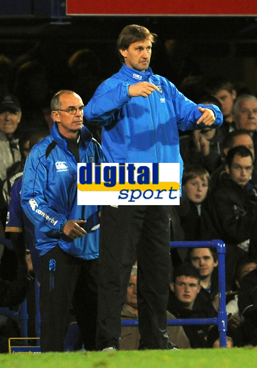 pFotball<br /> England<br /> Foto: Fotosports/Digitalsport<br /> NORWAY ONLY<br /> <br /> Tony Adams (Portsmouth Assistant Manager) issues instructions from the sideline <br /> <br /> 26.10.08  Portsmouth v Fulham (1-1)  Premier League Fratton