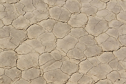 Detailed view of cracked earth surface Racetrack Playa, Death Valley National Park, California, United States of America