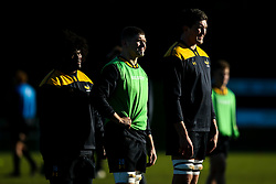 Charlie Matthews, Jack Willis and Ashley Johnson of Wasps during training ahead of the European Challenge Cup fixture against SU Agen - Mandatory by-line: Robbie Stephenson/JMP - 18/11/2019 - RUGBY - Broadstreet Rugby Football Club - Coventry , Warwickshire - Wasps Training Session