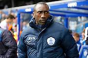 Queens Park Rangers manager Jimmy Floyd Hasselbaink before the Sky Bet Championship match between Queens Park Rangers and Reading at the Loftus Road Stadium, London, England on 23 April 2016. Photo by Andy Walter.
