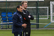 Forest Green Rovers goalkeeper coach Pat Mountain and Lewis Ward signs a contract with Forest Green Rovers at Stanley Park, Chippenham, United Kingdom on 14 January 2019.