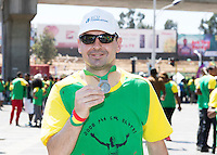 22/11/2015  repro fee. A group of  irish people travelled with Gorta-Self Help Africa travelled to the capital of Ethiopia Addis Ababa for the great Ethiopian run. In temperatures in the mid 30 degree heat and 40,000 people and a city at 7,500 feet above sea level, it's no mean feat.   Paul Gibbons  from Cavan finish the race in a great time  .  Photo:Andrew Downes.