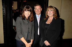 Left to right, CLAUDIA WINKLEMAN, SIR NICK LLOYD and EVE POLLARD at a party to celebrate the publication of Piers Morgan's book 'Don't You Know Who I Am?' held at Paper, 68 Regent Street, London W1 on 18th April 2007.<br />