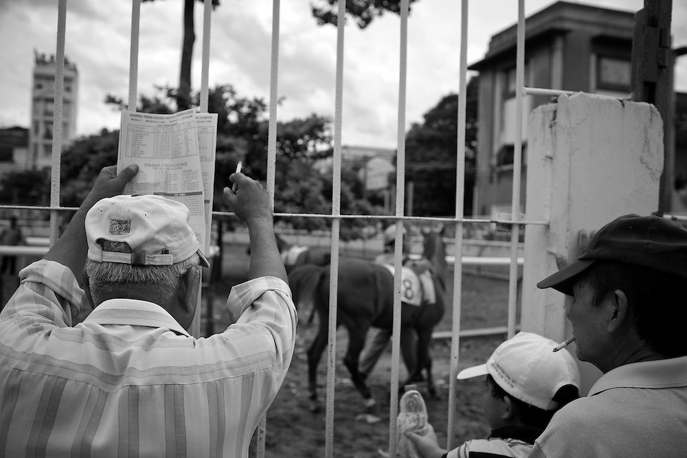 Scenes from Phu Tho horse racing track in Ho Chi Minh City, Vietnam.