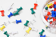 Multicolored Push Pins