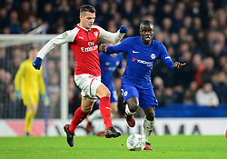 Ngolo Kante of Chelsea attacks forward. - Mandatory by-line: Alex James/JMP - 10/01/2018 - FOOTBALL - Stamford Bridge - London, England - Chelsea v Arsenal - Carabao Cup semi-final first leg
