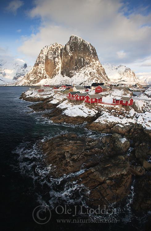 Small village in Lofoten, Norway