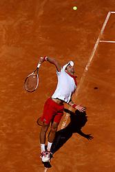 May 19, 2018 - Rome, Italy - Novak Djokovic (SRB) at Foro Italico in Rome, Italy during Tennis ATP Internazionali d'Italia BNL semi-final on May 19, 2018. (Credit Image: © Matteo Ciambelli/NurPhoto via ZUMA Press)