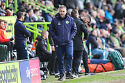 Forest Green Rovers assistant manager, Scott Lindsey during the EFL Sky Bet League 2 match between Forest Green Rovers and Lincoln City at the New Lawn, Forest Green, United Kingdom on 2 March 2019.