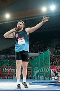 Tomasz Majewski of Poland competes at men's shot put during athletics meeting Pedro's Cup 2014 2014 at Luczniczka Hall in Bydgoszcz, Poland.<br /> <br /> Poland, Bydgoszcz, January 31, 2014.<br /> <br /> Picture also available in RAW (NEF) or TIFF format on special request.<br /> <br /> For editorial use only. Any commercial or promotional use requires permission.<br /> <br /> Mandatory credit:<br /> Photo by © Adam Nurkiewicz / Mediasport