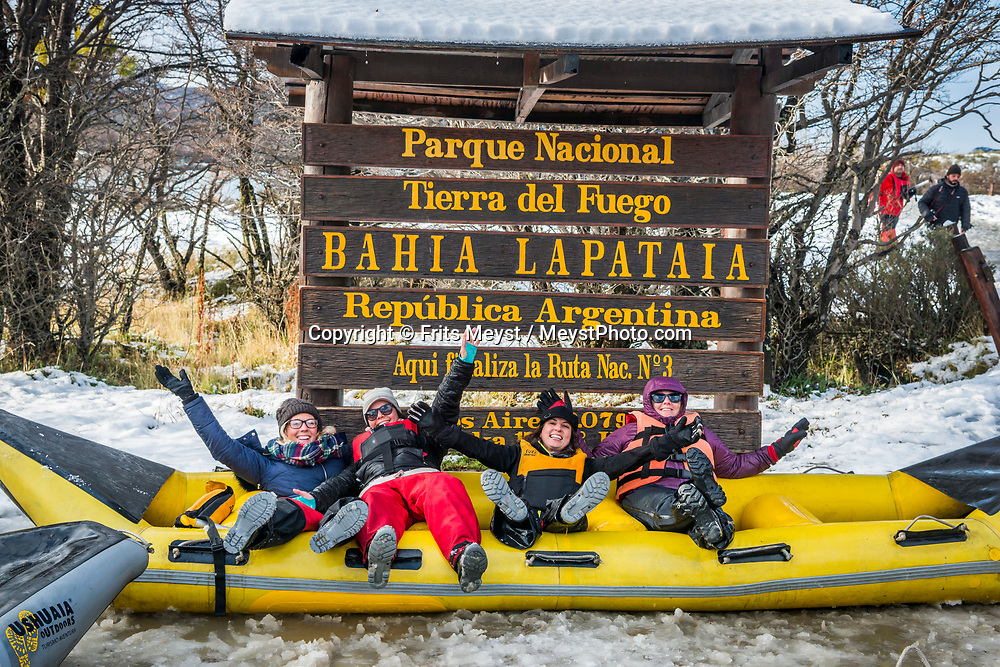Ushuaia, Tierra del Fuego, Argentina, June 2017. Tierra del Fuego National Park is the 'Fin del Mundo'. We take a  canoe tour on the Lapataia River to 'the end of the world' where the Pan-American highway ends on the southernmost tip of the American continent.  There are many hiking routes in this National Park. Photo by Frits Meyst / MeystPhoto.com