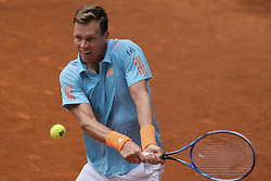 May 10, 2017 - Madrid, Spain - Tomas Berdych of Czech against Robin Haase of Netherlands  during day five of the Mutua Madrid Open tennis at La Caja Magica on May 10, 2017 in Madrid, Spain. (Credit Image: © Oscar Gonzalez/NurPhoto via ZUMA Press)