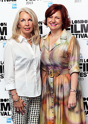 Amanda Nevill (left) CEO of BFI and Clare Stewart, BFI Head of Cinemas and Festivals at the launch of the BFI London Film Festival in Leicester Square, London, Wednesday, 4th September 2013.  Picture by Stephen Lock / i-Images