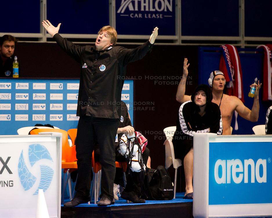 21-01-2012 WATERPOLO: EC GERMANY - CROATIA: EINDHOVEN<br /> European Championships Germany - Croatia / Coach Hagen Stamm GER<br /> (c)2012-FotoHoogendoorn.nl / Peter Schalk