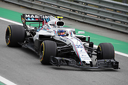 November 10, 2018 - Sao Paulo, Sao Paulo, Brazil - SERGEY SIROTKIN, of Williams Martini Racing, during the free practice session for the Formula One Grand Prix of Brazil at Interlagos circuit, in Sao Paulo, Brazil. The grand prix will be celebrated next Sunday, November 11. (Credit Image: © Paulo LopesZUMA Wire)