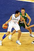 DESCRIZIONE : Madrid Spagna Spain Eurobasket Men 2007 Italia Lituania Itlay LithuaniaGIOCATORE : Matteo Soragna<br /> SQUADRA : Italia Italy <br /> EVENTO : Eurobasket Men 2007 Campionati Europei Uomini 2007 <br /> GARA : Italia Lituania Italy Lithuania<br /> DATA : 08/09/2007 <br /> CATEGORIA : Palleggio<br /> SPORT : Pallacanestro <br /> AUTORE : Ciamillo&amp;Castoria/G.Ciamillo<br /> Galleria : Eurobasket Men 2007 <br /> Fotonotizia : Madrid Spagna Spain Eurobasket Men 2007 Italia Lituania Italy Lithuania<br /> Predefinita :