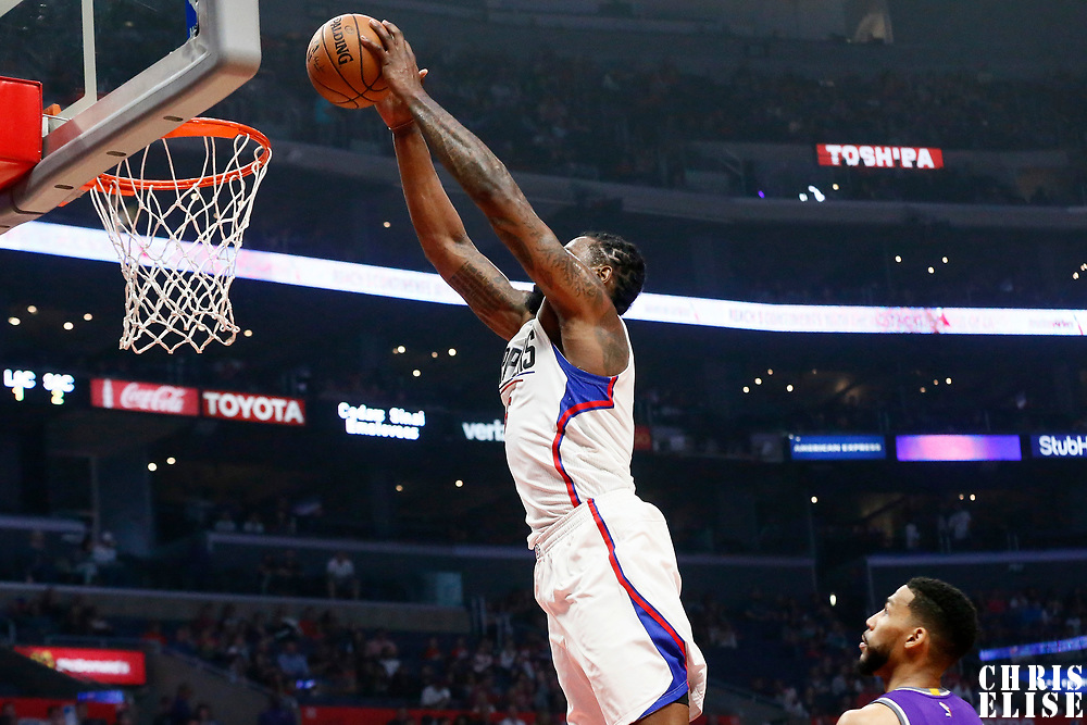 26 March 2016: LA Clippers center DeAndre Jordan (6) goes for the dunk during the Sacramento Kings 98-97 victory over the Los Angeles Clippers, at the Staples Center, Los Angeles, California, USA.