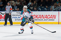 KELOWNA, CANADA - JANUARY 7: Tyrell Goulbourne #12 of Kelowna Rockets skates against the Vancouver Giants on January 7, 2015 at Prospera Place in Kelowna, British Columbia, Canada.  (Photo by Marissa Baecker/Shoot the Breeze)  *** Local Caption *** Tyrell Goulbourne;